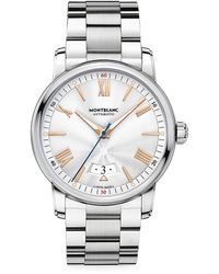 Montblanc 4810 Stainless Steel Bracelet Automatic Date Watch - Metallic