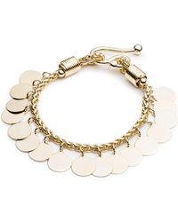 Eddie Borgo - Golden Coin Bracelet - Lyst