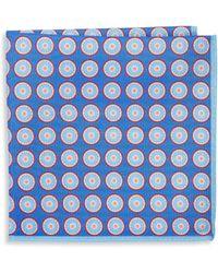 Ike Behar - Men's Silk Polka Dot Pocket Square - Navy - Lyst