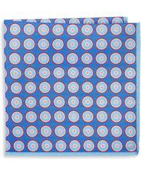 Ike Behar - Silk Polka Dot Pocket Square - Lyst