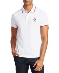 Moncler - Logo-embroidered Polo - Lyst