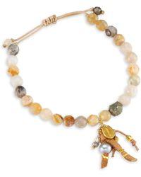 Chan Luu - African Opal Leather Bracelet - Lyst