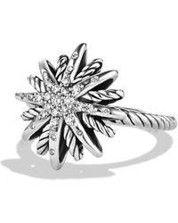 David Yurman - Starburst Small Ring With Diamonds - Lyst