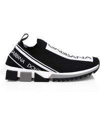 Dolce & Gabbana Sorrento Knitted Sneakers - Black