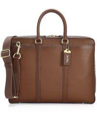 COACH New Metropolitan Slim Brief Leather Bag - Multicolor