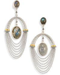 Coomi - Spring Labradorite, Diamond & Sterling Siler Drop Earrings - Lyst