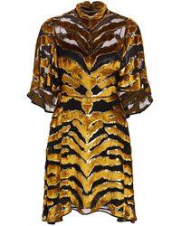 Adam Lippes Tiger-stripe Burnout Dress - Multicolor