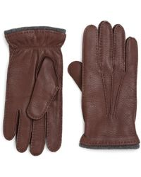 Saks Fifth Avenue | Deerskin Leather Gloves | Lyst