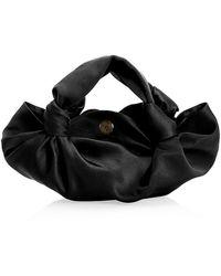 The Row Ascot Velvet Hobo Bag - Black