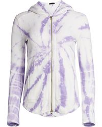 ATM Tie-dye French Terry Hoodie - Purple