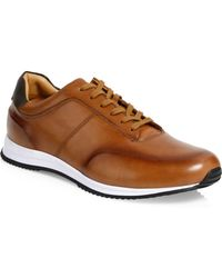 BOSS - Legacy Leather Sneakers - Lyst