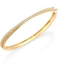 Hueb - Bubbles Diamond & 18k Yellow Gold Bangle Bracelet - Lyst