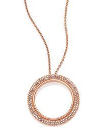 Astley Clarke - Rising Sun Diamond & 14k Rose Gold Double Eclipse Pendant Necklace - Lyst
