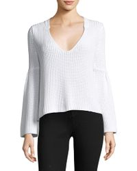 Free People - Damsel Cotton Pullover Sweater - Lyst