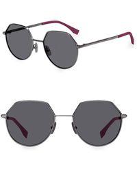 cf6df4b2d19 Fendi Men s 54mm Pilot Sunglasses - Dark Havana in Blue for Men - Lyst