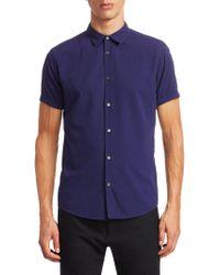 Emporio Armani - Neat Short Sleeve Button-down Shirt - Lyst