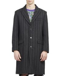 Palm Angels - Pinstripe Ripped Coat - Lyst