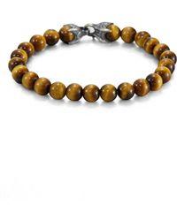 David Yurman Spiritual Beads Red Tiger's Eye Bracelet - Multicolour