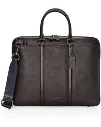 COACH - Sport Metro Leather Briefcase - Lyst