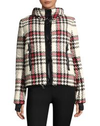Moncler G-flaine Glen Plaid Jacket - Black