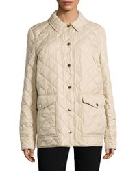 Burberry Westbridge Relaxed Quilted Jacket - Natural