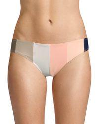 Paper London - Stripe Bikini Bottoms - Lyst
