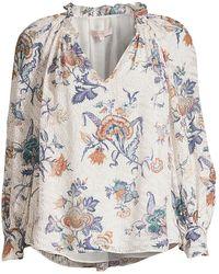 Rebecca Taylor Floral Print Blouse - Multicolor