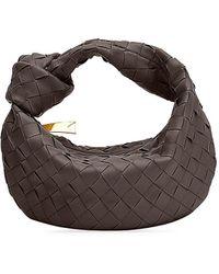 Bottega Veneta Mini Jodie Leather Hobo Bag - Brown