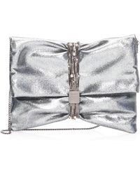 Jimmy Choo - Chandra Metallic Leather Belted Clutch - Lyst