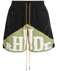 Rhude Yachting Cotton Shorts - Multicolor