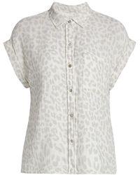 Rails Whitney Leopard Shirt - Gray