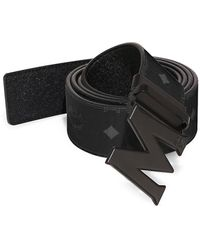 MCM - Claus M Reversible Belt In Black Logo Visetos - Lyst