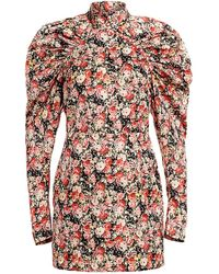 ROTATE BIRGER CHRISTENSEN Kim Floral Mini Dress - Red