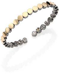 John Hardy - Dot 18k Yellow Gold & Sterling Silver Cuff Bracelet - Lyst
