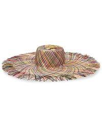 Eugenia Kim Valentina Multicolor Straw Wide-brim Sun Hat
