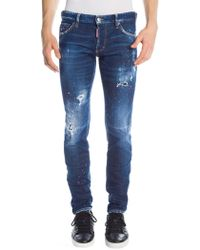 DSquared² - Slim-fit Pink Spray Wash Jeans - Lyst