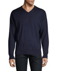 Peter Millar - Men's Wool & Silk Pullover - Charcoal - Size Small - Lyst