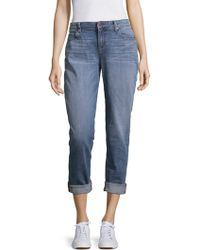 Eileen Fisher - Whiskered Stretch Jeans - Lyst