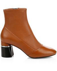 3.1 Phillip Lim Drum Leather Ankle Boots - Brown