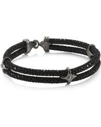 Stinghd | Ruby, Blackened Silver & Stingray Star Wrap Bracelet | Lyst