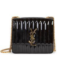 a67f58c77c Saint Laurent - Large Vicky Patent Leather Monogramme Shoulder Bag - Lyst