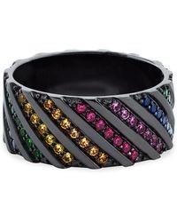 Lana Jewelry - 14k Black Gold Sapphire Ring - Lyst