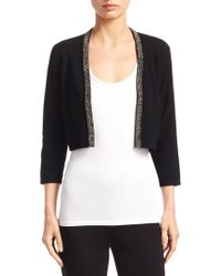 Saks Fifth Avenue | Collection Cashmere Embellished Bolero | Lyst