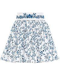 Agua by Agua Bendita Floral Mini Skirt - Blue