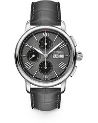 Montblanc Star Legacy Stainless Steel & Alligator Strap Chronograph Watch - Black