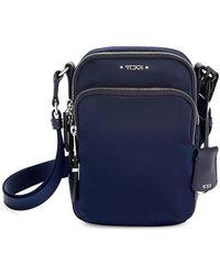 Tumi Nylon Leather-trim Crossbody Strap - Blue