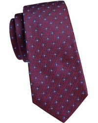 Kiton Medallion Silk Tie - Red