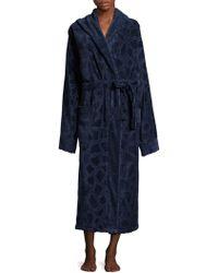 Roberto Cavalli Jerapha Hooded Cotton Bathrobe - Blue