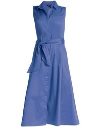 NIC+ZOE Santa Monica Stretch-cotton Shirtdress - Blue