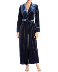 Jonquil Hampton Court Velvet Robe - Blue